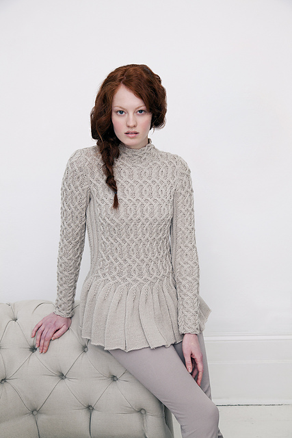Wavy Peplum Sweater